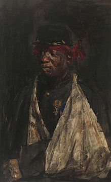 Porträt eines verletzten KNIL-Soldaten, Isaac Israels, 1882.