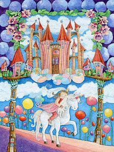 Prinzessin und das Einhorn im Zauberland von Atelier BuntePunkt