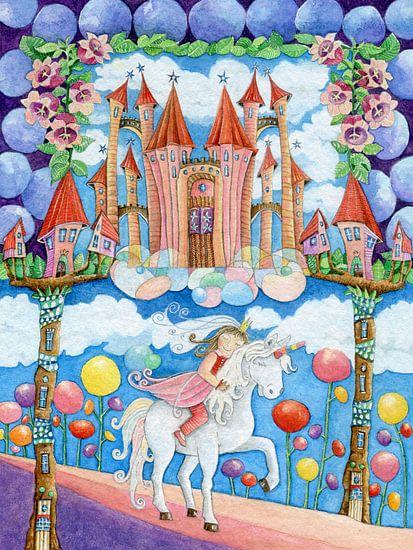 Prinzessin und das Einhorn im Zauberland