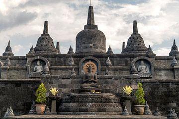 Boeddhistische tempel in Bali, Indonesië van Peter Schickert