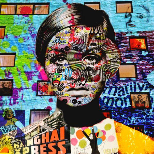 Miss Twiggy - Plakative Dadaismus  van Felix von Altersheim