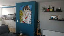 Klantfoto: POP ROMANTICS van LOUI JOVER, op canvas