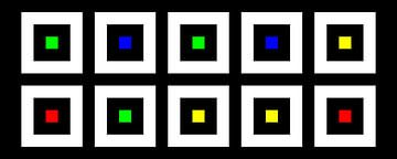 Nested | Center | 05x02 | N=02 | Random #10 | RGBY van Gerhard Haberern