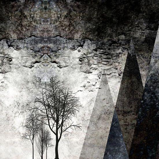 TREES besides MAGIC MOUNTAINS I van Pia Schneider
