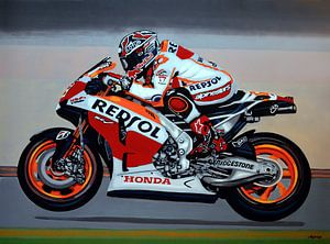 Marc Marquez schilderij