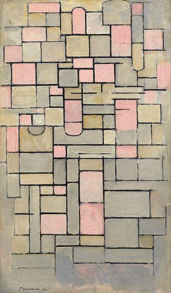 Piet Mondriaan. Composition 8 van 1000 Schilderijen