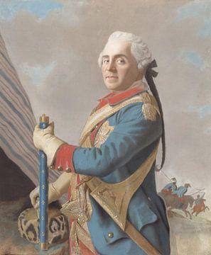 Portret van Moritz, Graf von Sachsen, Jean-Etienne Liotard
