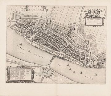 Karte von Kampen von 1652