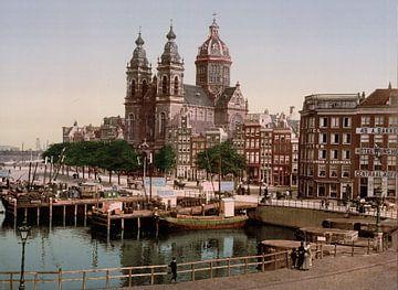 Nicolaaskerk, Amsterdam van Vintage Afbeeldingen