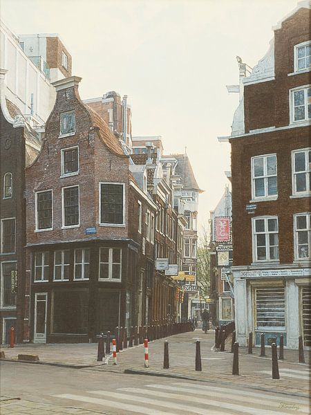 Schilderij: Nieuwezijds Voorburgwal, Amsterdam van Igor Shterenberg