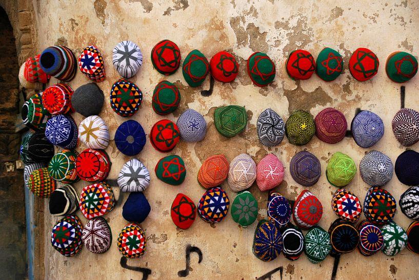 Hoedjes in Marokko van Homemade Photos