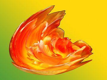 Vuur explosie van geel en oranje van Alice Berkien-van Mil