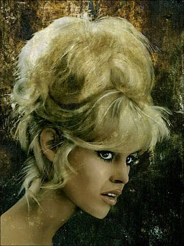 Brigitte Bardot - Retro von Christine Nöhmeier