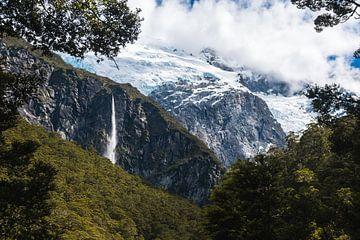 Rob Roy Glacier in Nieuw-Zeeland van Linda Schouw