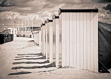 Strand cabines in katwijk sur Dirk van Egmond