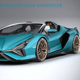 Lamborghini Sian Roadster met tekst van Gert Hilbink