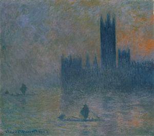De Houses of Parliament (Effect van Mist), Claude Monet van Meesterlijcke Meesters