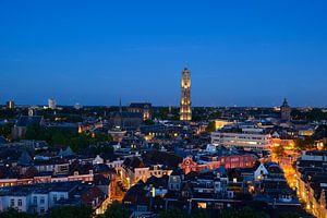 Stadsgezicht met Domkerk en Domtoren in Utrecht