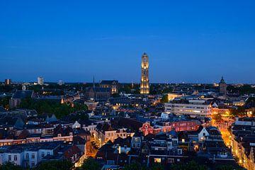 Stadsgezicht met Domkerk en Domtoren in Utrecht sur Donker Utrecht