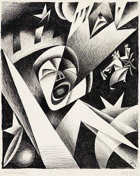 Nächtlicher Lärm, Georg Scholz, 1919 von Atelier Liesjes