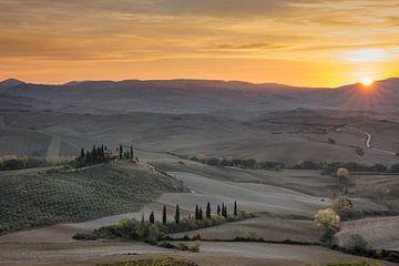 Belvedère, San Quirico d'Orcia, Toscana van Jos Waltmans