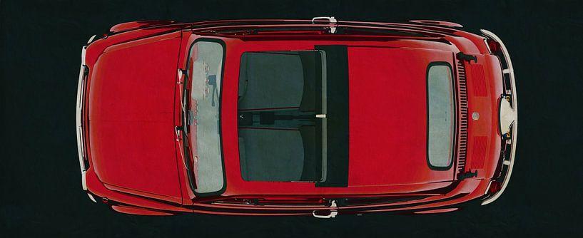 Fiat Abarth 595 1968 bovenaanzicht van Jan Keteleer