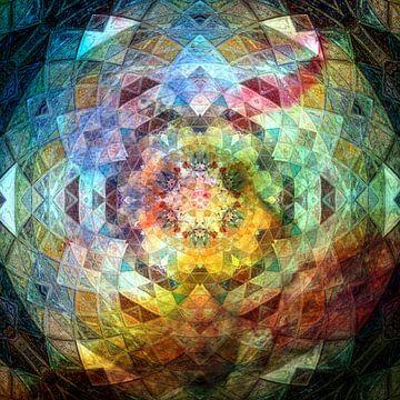 Mandala Regenboog van Sabine Wagner