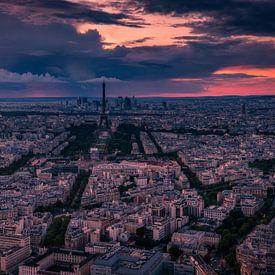 Parijs bij zonsondergang van Joris Pannemans - Loris Photography