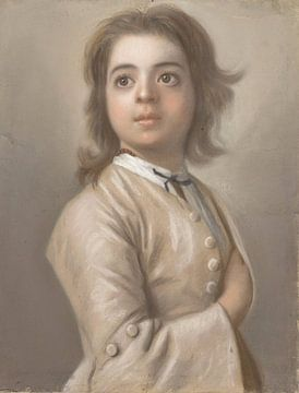 Studie van een jongen ten halven lijve, Jean-Etienne Liotard