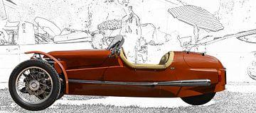 Morgan Threewheeler in originele kleur van aRi F. Huber