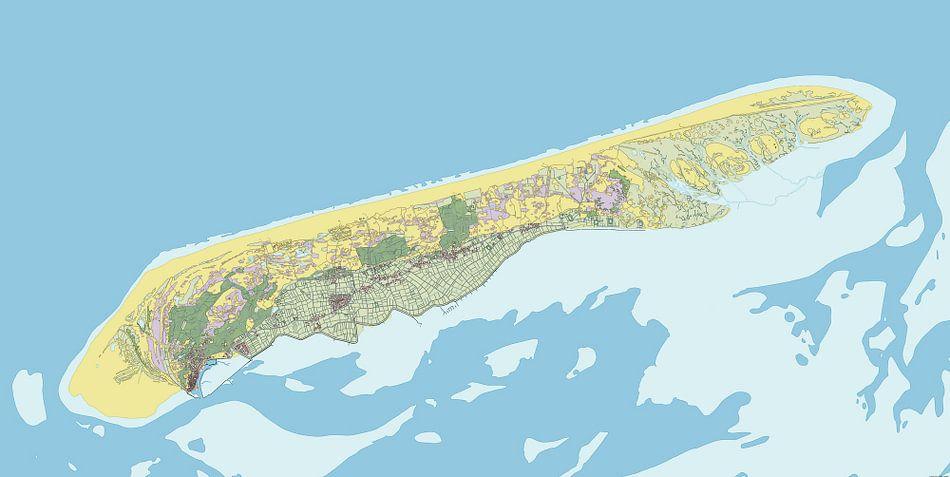 Kaart van Terschelling