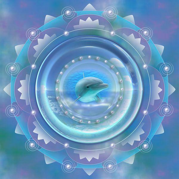 Mandala - Dolfijn van Shirley Hoekstra