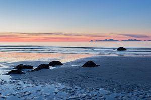 Zonsondergang op de Lofoten (Noorwegen) van