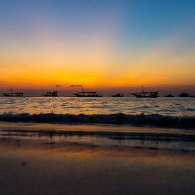 Coucher de soleil à Zanzibar sur Gerwin Hoogsteen
