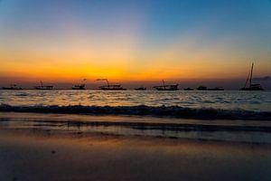 Zonsondergang Zanzibar van Gerwin Hoogsteen
