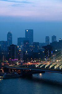 Uitzicht op Rotterdam centrum