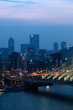 Uitzicht op Rotterdam centrum van Pieter Wolthoorn