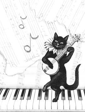 Vintage-Katze von Bright Designs