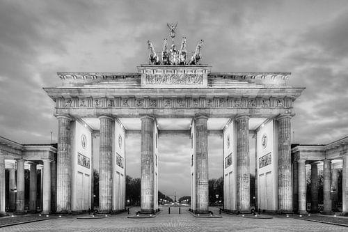 Brandenburg Gate Berlin in black and white van