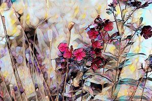 Blumenkomposition Ölmalerei