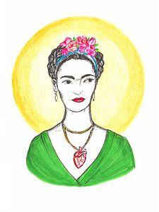 Frieda Kahlo mit Halo
