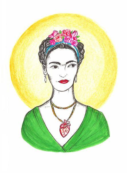 Frieda Kahlo mit Halo von Karolina Grenczyk