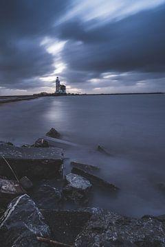 Stormachtige ochtend bij Marken van Albert Lamme