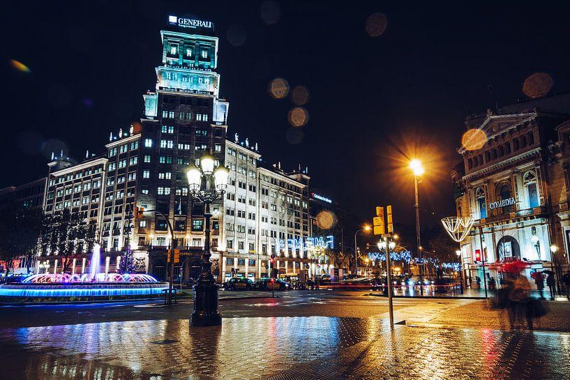 Barcelona - Passeig de Gracia van Alexander Voss