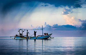 Bali, Fischer am Meer