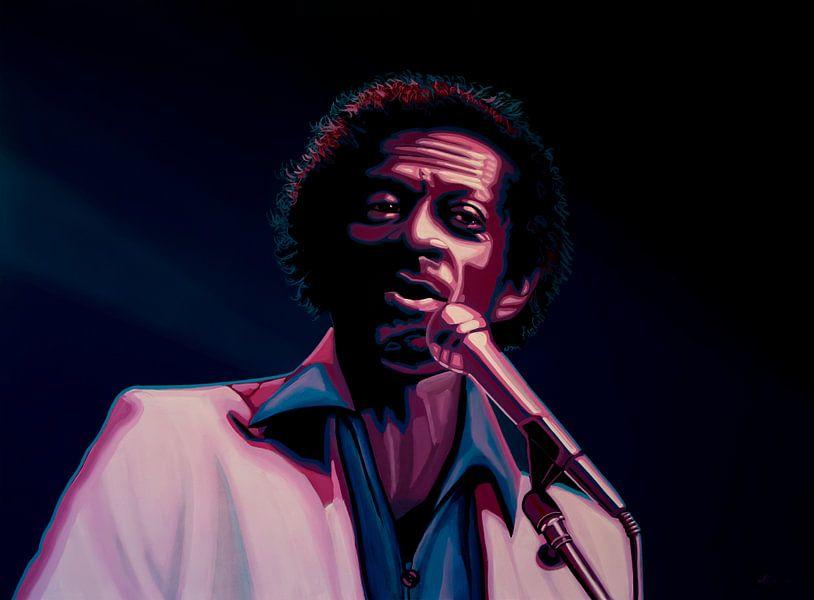 Chuck Berry Painting van Paul Meijering