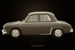 Renault Dauphine Gordini Schwarz und Weiß
