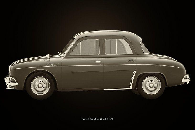 Renault Dauphine Gordini Zwart en Wit van Jan Keteleer