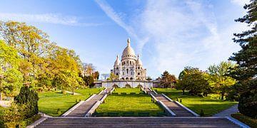 Sacré-Coeur op de Montmartre in Parijs van Werner Dieterich