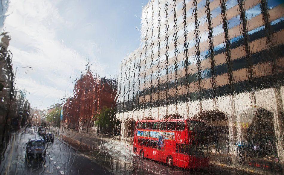 London in rain